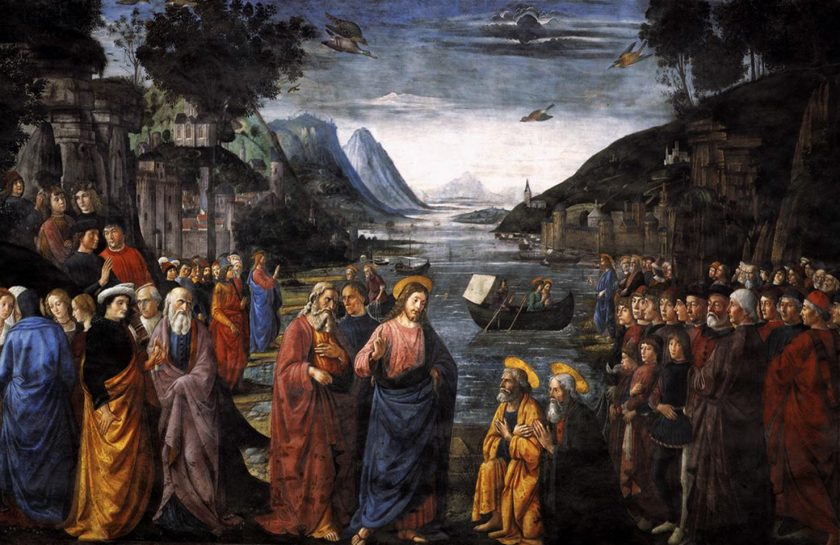 Calling of the Apostles Domenico Ghirlandaio, 1481