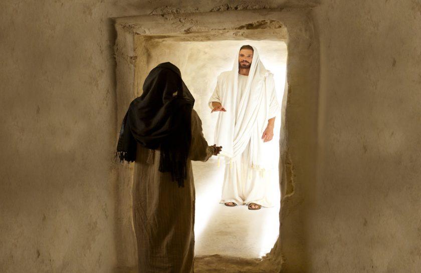 Maria Magdalena y Jesus Resucitado