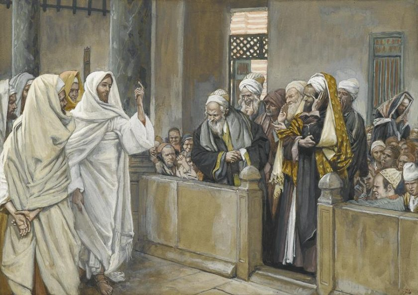 the-chief-priests ask jesus-by-what-right-does-he-act-in-this-way-james-jacques-joseph-tissot