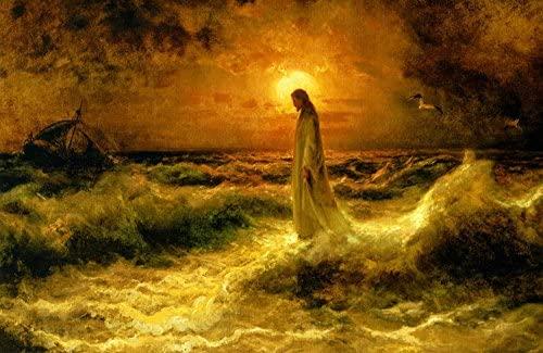 Jesus caminando sobre el agua