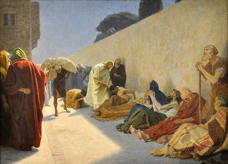 Jesus curando enfermos