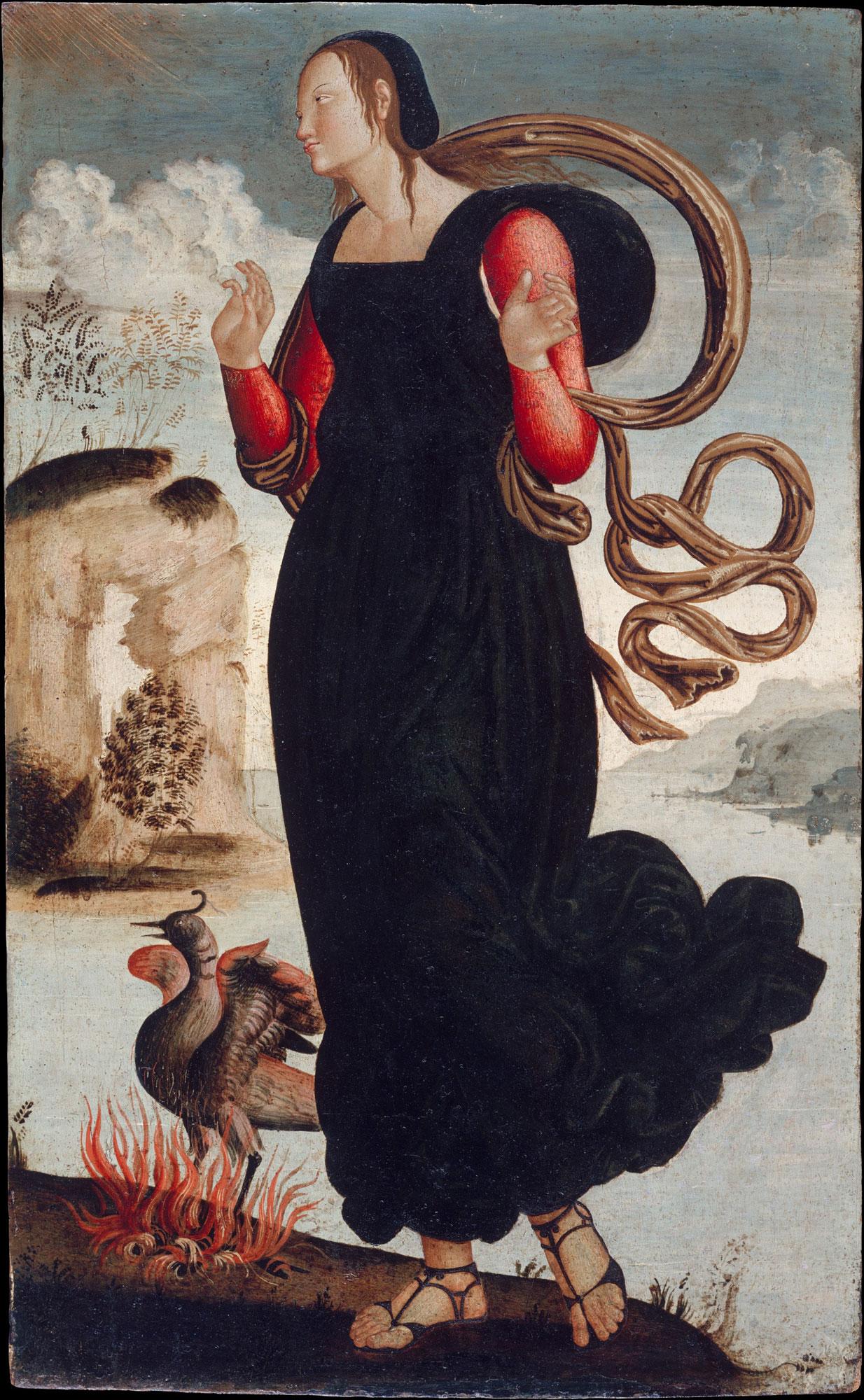 La Virtud de la Esperanza. Pintor anónimo de Umbría, año 1500 aproxi.
