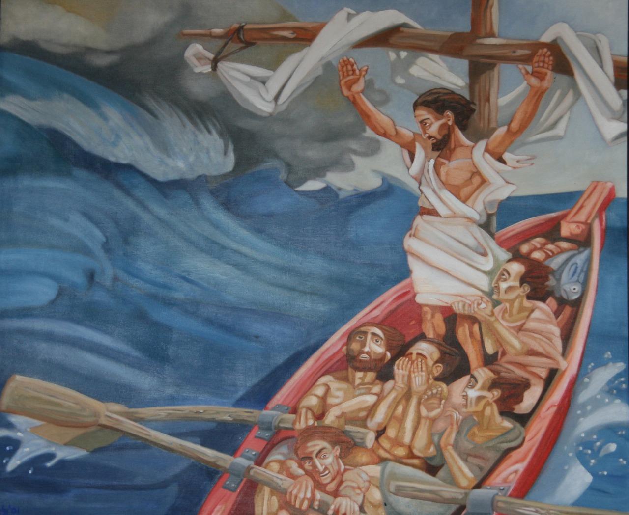 Jesus en la tormenta