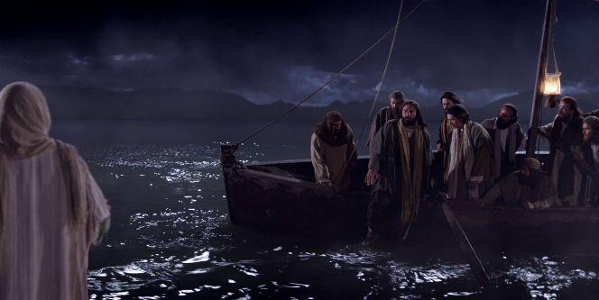 Los apostoles en la barca
