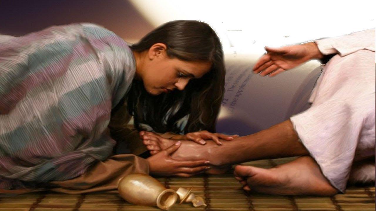 Maria a los pies de Jesus