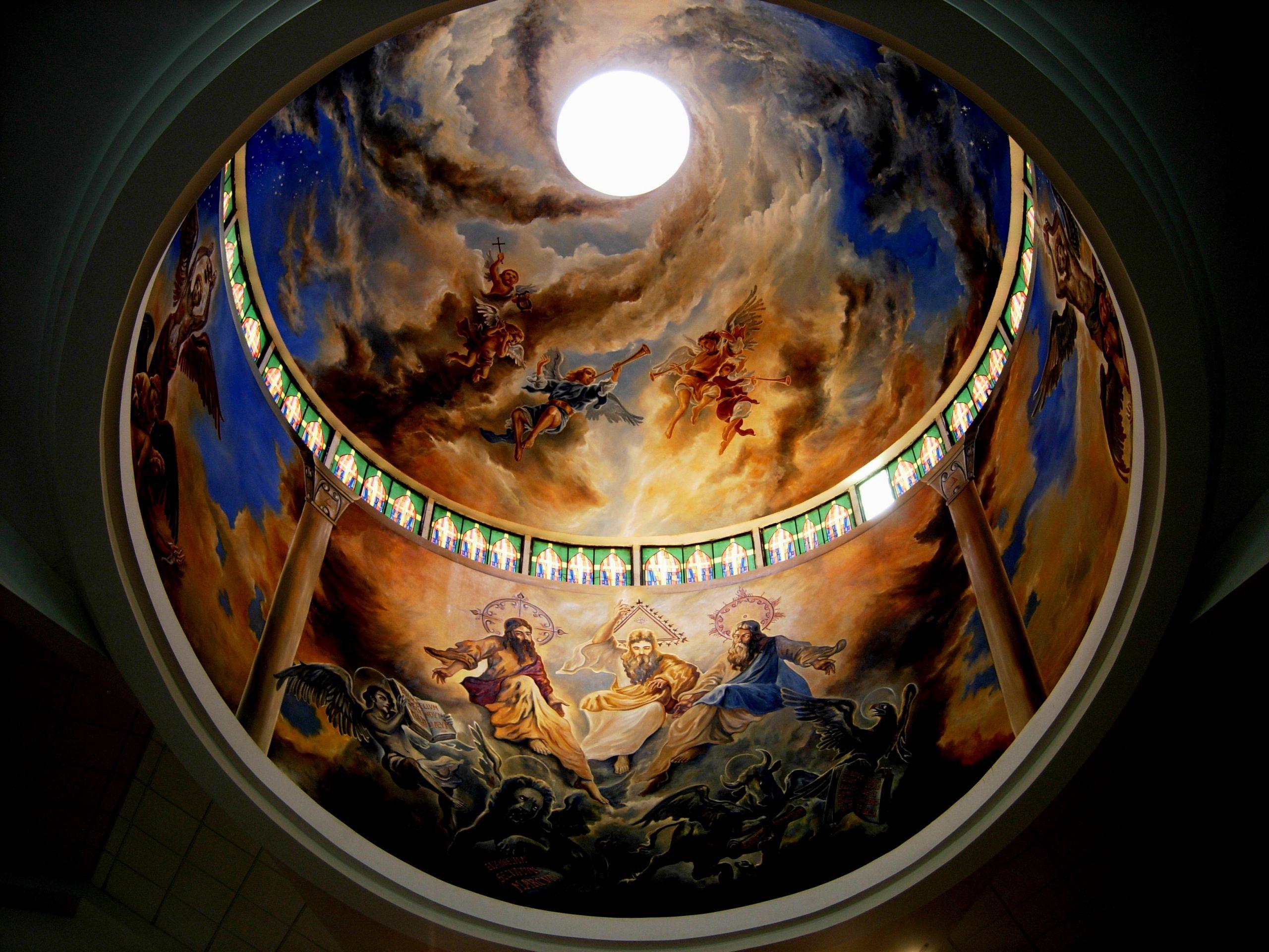 Dios Padre Jesus mural